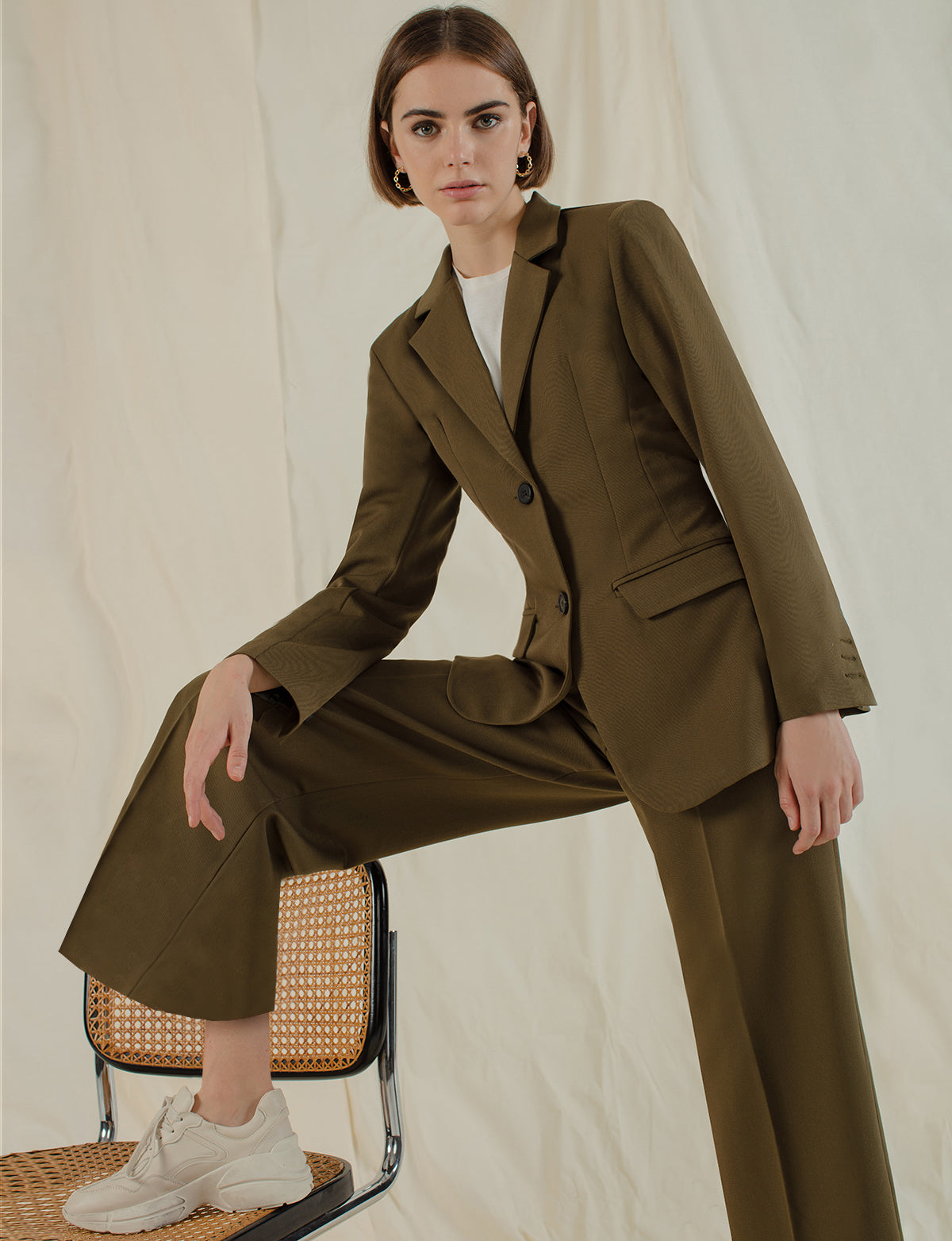 Olive Brown Suit Blazer