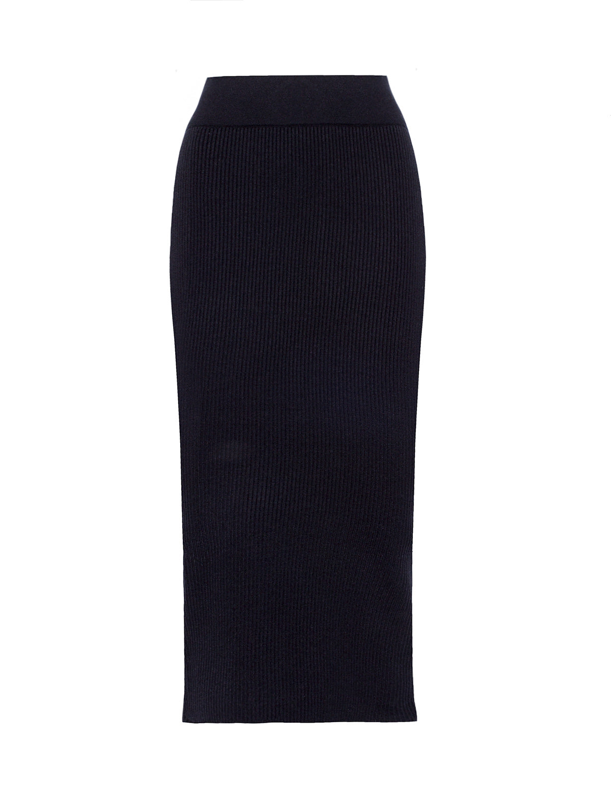black-ribbed-knit-midi-skirt