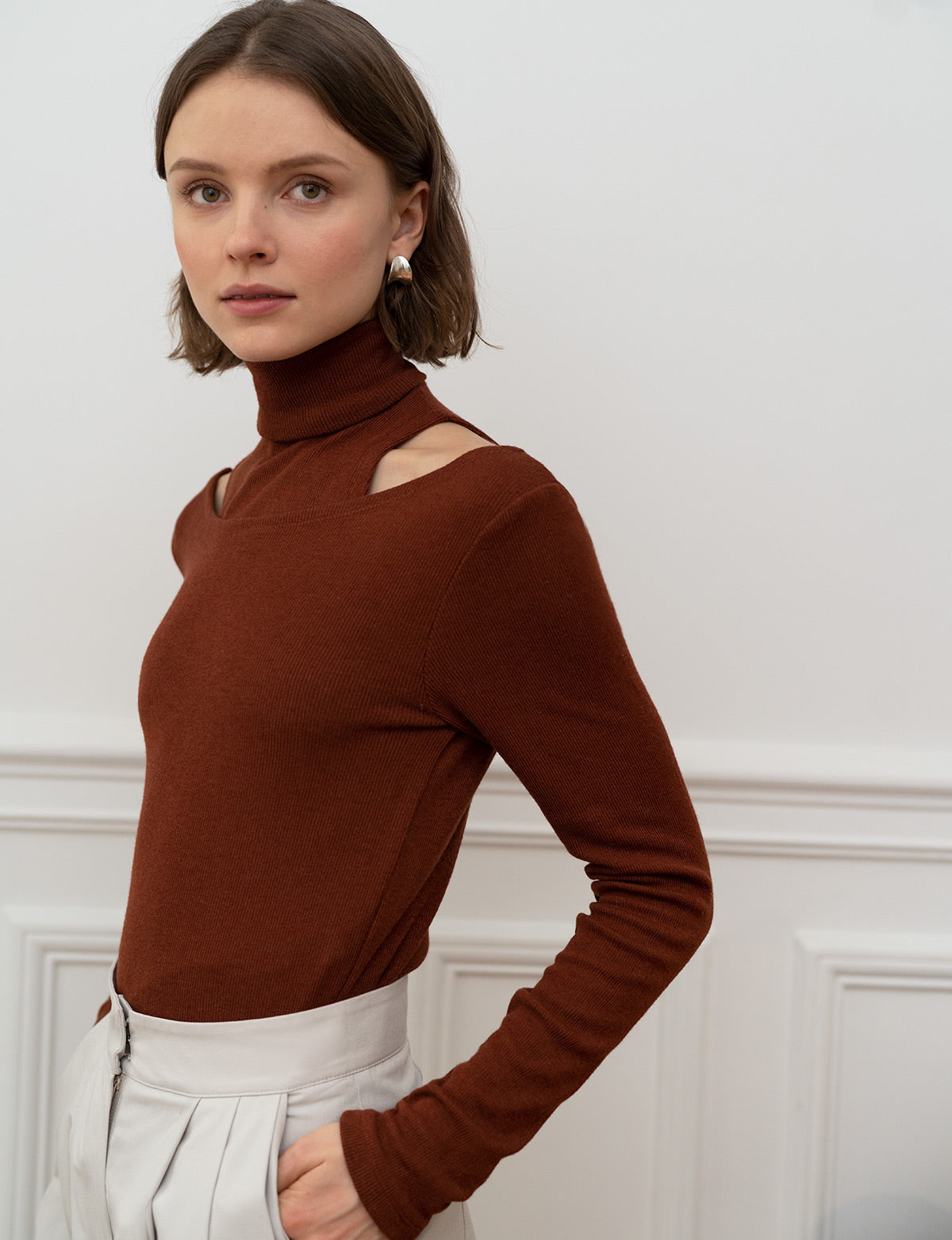 Rust Two-Piece Knit