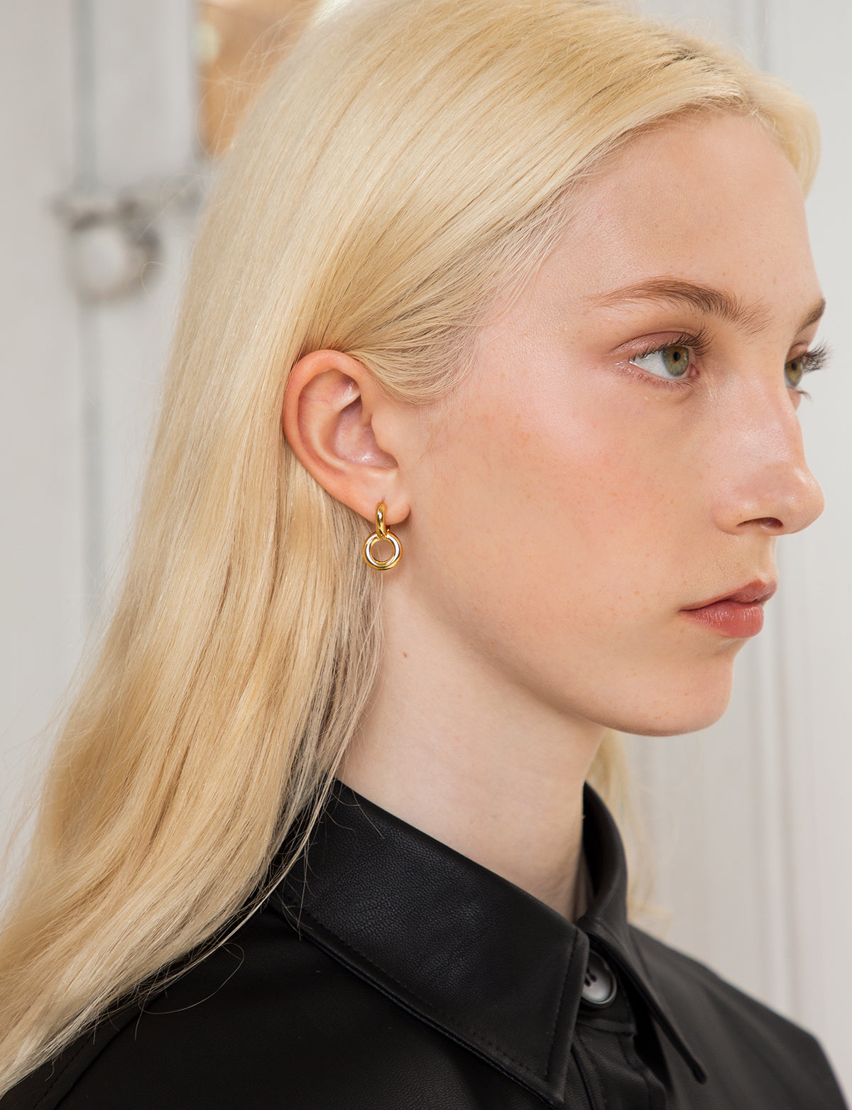 Gold Plated Double Hoop Earrings