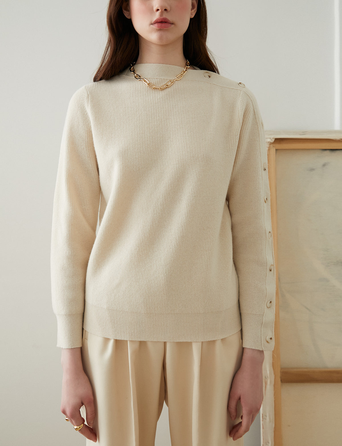 Open Sleeve Cashmere Sweater