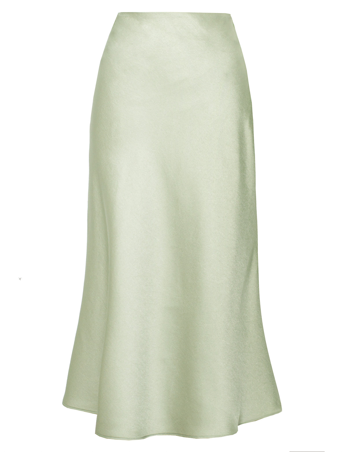 Pistachio Green Satin Skirt