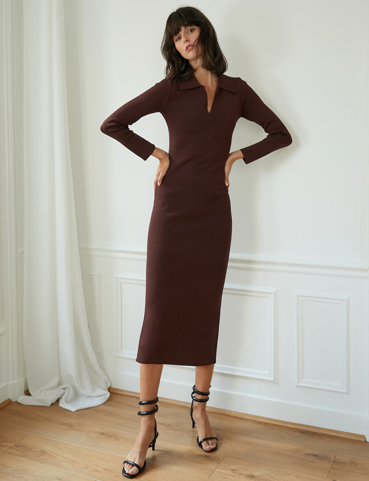 Otis Brown Polo Knit Dress