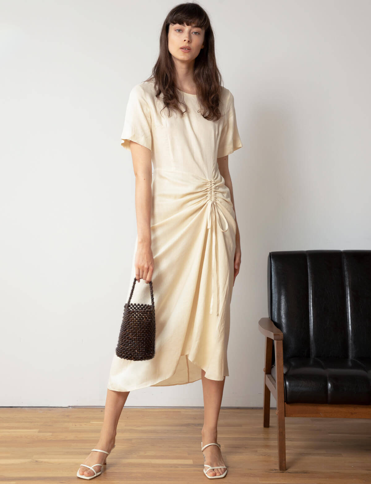 Tencel Linen Ruched Dress