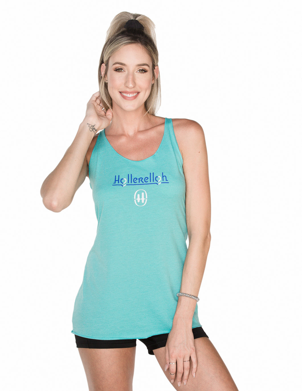 Courageous Hearts Blue Scream Racerback Tank