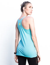 Hollerelloh Blue Scream Racerback Tank