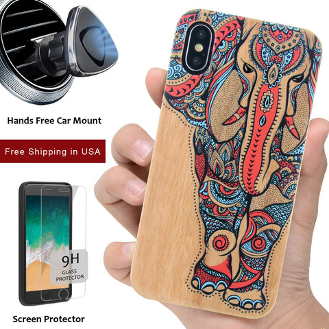 3D UV Color Printed Wood Protective Phone Cases