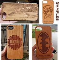 Custom iPhone and Galaxy Cases - Engrave a Picture, Your Name, Logo, or Something Cool!