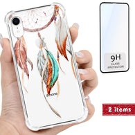 Dream Catcher 3D Color Clear iPhone Case Includes 9H Glass Screen Cover, Protective Case - iProductsUS
