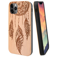 Dream Catcher Wood Case Includes Screen Protector or Magnetic Car Mount for iPhones