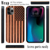 US American Flag Engraved in Dark Cherry Wood for iPhone (Dark Cherry Wood)