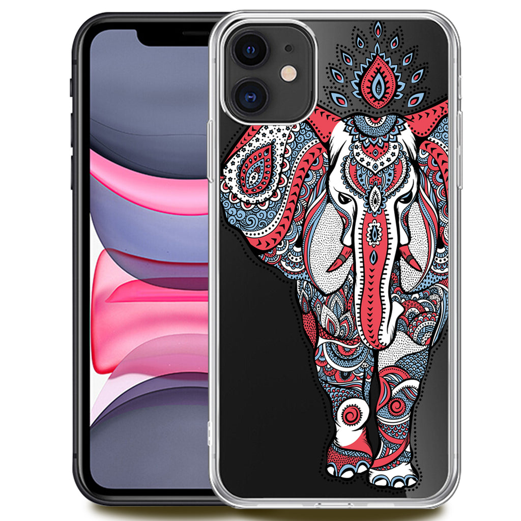 3D Elephant Clear Phone Case Offers 9H Screen Protector.