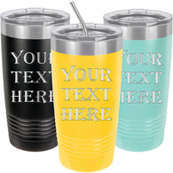 Personalized Tumbler Mug 20oz with Lids and Straws, Stainless Steel Double Wall Thermos, Customized Cups - iProductsUS