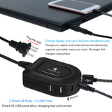 Universal Laptop Charger with 6 Ports USB Charging Station for iPhone Android and Multiple Devices