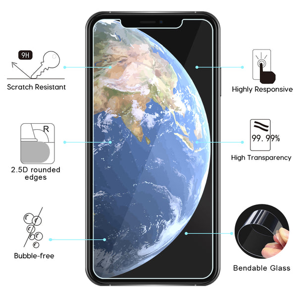 Two Pack 9H Screen Glass Protectors Compatible for iPhones