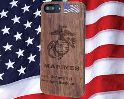 U.S. Marines Phone Case Personalized with Rank / Name for iPhone and Galaxy - iProductsUS