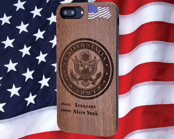 U.S. Army Wood Phone Case