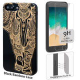 Elephant Wooden Engraved Case with Name, Logo, Pictures for iPhone 6,7,8, Plus, X, XS, XS Max, XR by iProducts US
