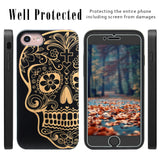 Black Skull Engraved Case for iPhone by iProducts US