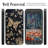 Back Bamboo Wood Butterfly Case by iProducts US