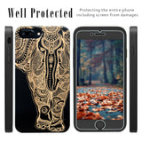 Elephant Cherry, Black, White Wood Phone Case with Screen Protector or Car Mount