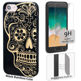 Sugar Skull Phone Case Personalized Includes Magnetic Car Mount or Glass Protector for iPhone Xr, XS Max, Xs, X, Plus, 8,7,6,6s, Gift Idea