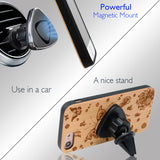 Butterfly Wood iPhone Case Includes Screen Protector or Magnetic Car Mount