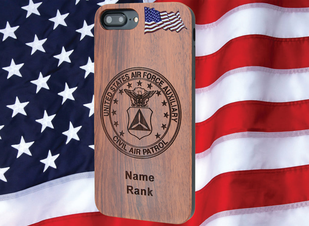 U.S. Civil Air Patrol Phone Case Personalized with Name / Rank - iProductsUS
