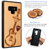 Hard Rock Cafe Guitar Samsung Galaxy Phone Cases with Red Guitar Pick