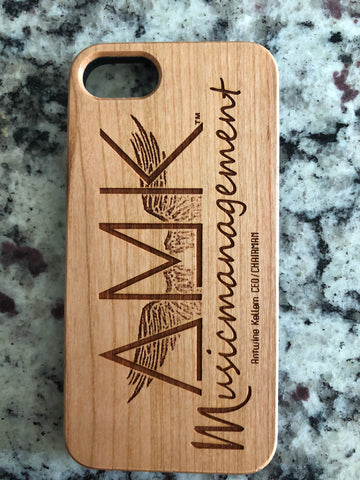 Custom Wood Engraved Case with Name, Logo, or Picture by