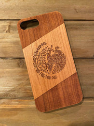 Mexico Flag Wood Phone Case Optional Accessories - iProductsUS
