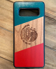 Mexico Flag Engraved Phone Case for Samsung Galaxy Note with Optional Accessories