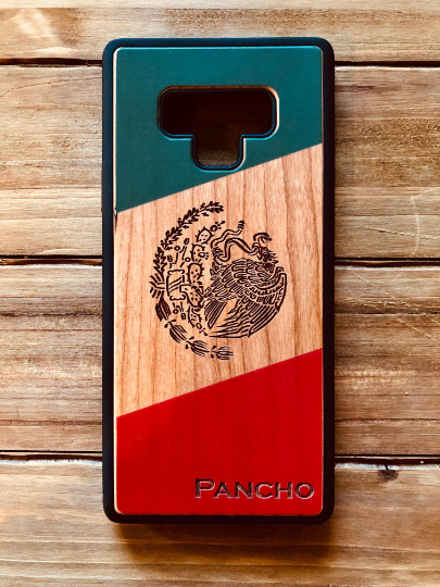 Mexico Flag Engraved Phone Case for Samsung Galaxy Note with Optional Accessories - iProductsUS