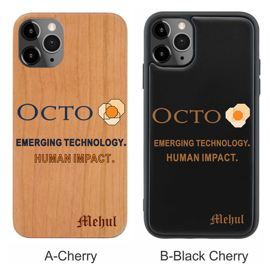 Octo Personalized Name for iPhone Wood Case - iProductsUS
