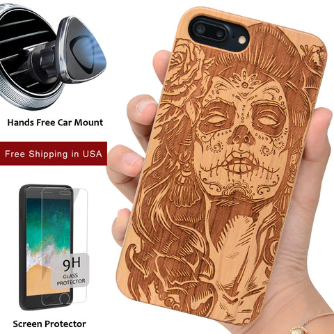 Our Day of the Dead Skull Crazy Lady by iProducts US