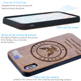Navy Phone Case with Rank / Name Engraved Dark Cherrywood Protective Case iPhone 6, 7, 8, PLUS, X, XS, XS MAX, XR Cases