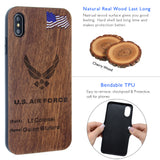 US Air Force Phone Case Personalized with Rank / Name for iPhone and Galaxy