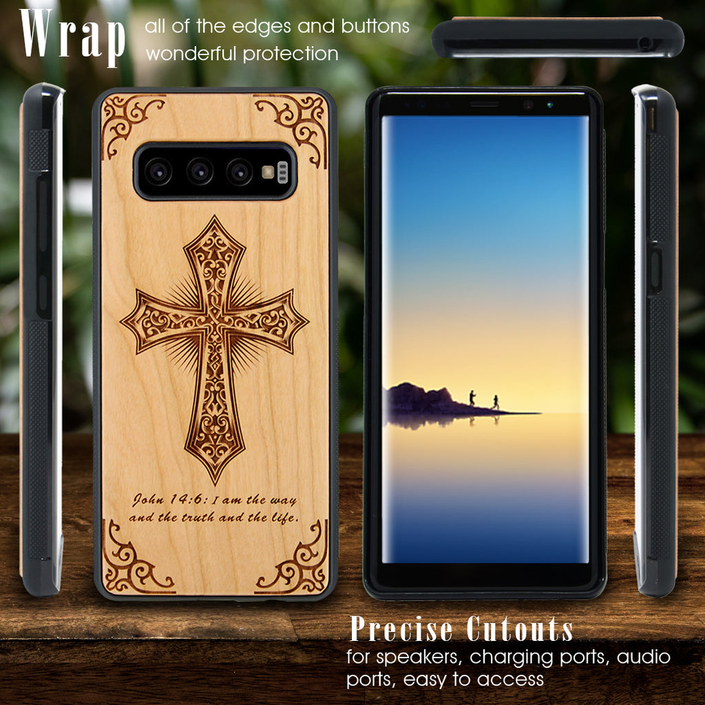 Holly Cross Engraved Phone Case for Samsung Galaxy Note with Optional Accessories - iProductsUS