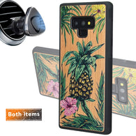 Color Pineapple Engraved Phone Case for Samsung Galaxy Note with Optional Accessories