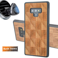 Geometric Engraved Phone Case for Samsung Galaxy Note with Optional Accessories