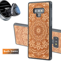 Mandala Engraved Personalized Phone Case for Samsung Galaxy Note with Optional Accessories