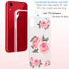 3D Pink Rose Clear Phone Case Offers Screen Protector
