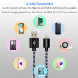 Two Apple iPhone Heavy Duty Lightning Charging Cable with Warranty
