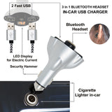 2 USB Charger, Bluetooth Ear bud, Window Breaker for iPhone, Android, and other Devices