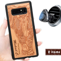 Elephant Engraved Phone Case for Samsung Galaxy Note with Optional Accessories
