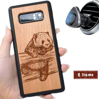 Panda Engraved Personalized Phone Case for Samsung Galaxy Note with Optional Accessories