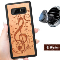 Music Engraved Personalized Phone Case for Samsung Galaxy Note with Optional Accessories