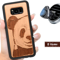 Panda Engraved Phone Case for Samsung Galaxy Note with Optional Accessories