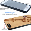 Hard Rock Cafe Guitar Wood Phone Case with Red Guitar Pick