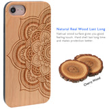 Sunflower Wooden Engraved Case, Car Mount or Protective Glass for iPhone 6,6S,7,8, Plus, X by iProducts US